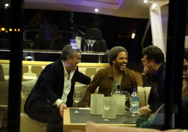 Picture of Pieric De La Croix with Lenny Kravits.