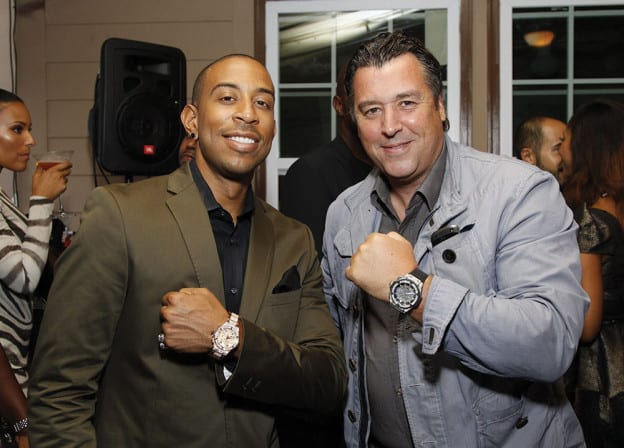 Picture of Ludacris and Pieric Rick De La Croix at the opening of Hublot's Atlanta boutique