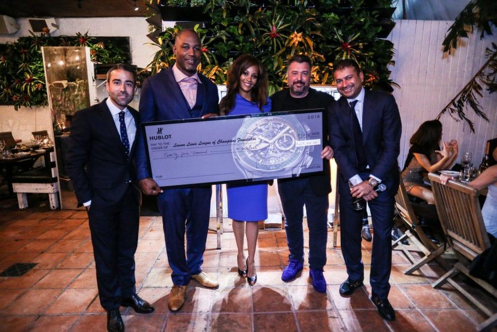 President Rick De La Croix and Hublot give 25G to LOC Foundation